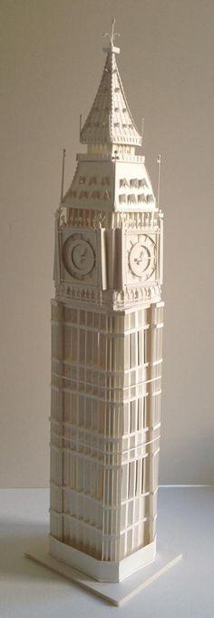 Arquitectura de papel. El Big Ben de Megan Brian