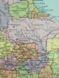 Thwing Map Street and Road Maps of Yorkshire England UK