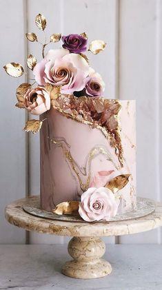weddingcakes wedding pretty cakes ideas geode cake pretty wedding cakes wedding cake ideas geode wedding cakeYou can find Birthday cake and more on our website Elegant Birthday Cakes, Pretty Wedding Cakes, 18th Birthday Cake, Beautiful Birthday Cakes, Wedding Cake Designs, Pretty Cakes, Wedding Themes, Wedding Colors, Wedding Ideas