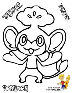 Pokemon Coloring Pages Pansear