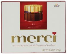 Who doesn't ❤️ Chocolate Give the Gift of Merci European Chocolates to the one you LOVE on Valentine's Day