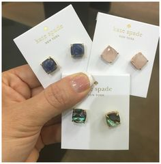 Kate Spade came out with these new mini square studs!!!!!  I LOVE THEM!