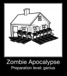 Zombie apocalypse defense: Treadmills