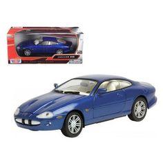 2002 Jaguar XKR Blue 1/24 Diecast Car Model by Motormax