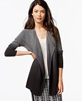 Charter Club Cashmere Dip-Dyed Cardigan