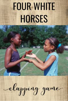 Directions on how to play the clapping game Four White Horses in your elementary music classes. Plus, ideas for teaching syncopation, tempo, and meter using the clapping game.