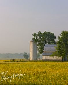 """""""396ES"""" NEW! Photograph by Larry Kanfer. Artwork available in any size. Barn, landscape, prairie, farm, silo, Midwest. gallery@kanfer.com"""