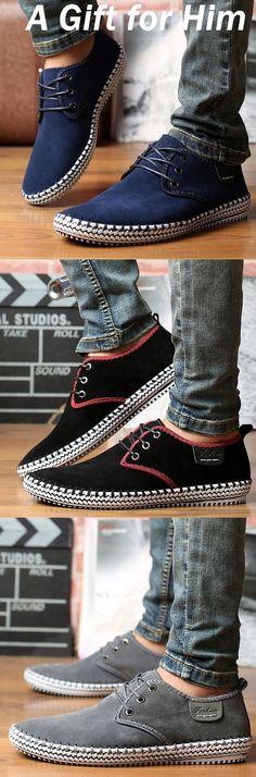 $44.95  Minimalist Men Suede Stitching Soft Sole Outdoor Sport Casual Shoes