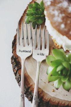 Weddbook ~ Beautiful Husband & Wife Fork - Decoration