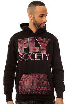 Fly+Society+The+Snake+Skin+Pullover+Hoody+in+Black