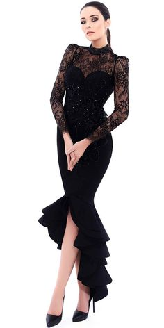 wedding dresses lace, Chic Lace & Satin High Collar Neckline Cut-out Mermaid Evening Dresses With Beaded Lace Appliques DressilyMe UK Mermaid Evening Dresses, Evening Gowns, Prom Dresses, Formal Dresses, Wedding Dresses, Pageant Gowns, Dress Prom, Elegant Dresses, Beautiful Dresses