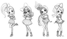 Character design and illustrations for the new Locksies dolls by Bandai.Illustrations used for website and packaging art.