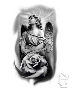 Angel Tattoo Designs, Tattoo Sleeve Designs, Sleeve Tattoos, Cool Little Tattoos, Cute Tattoos, Jesus 3d Tattoo, Potrait Tattoo, Urban Tattoos, Forarm Tattoos