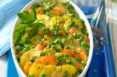 Delicious: Vegetarian potato casserole with vegetables - Food I love - Rezepte İdeen Veggie Recipes, Diet Recipes, Vegetarian Recipes, Healthy Recipes, No Calorie Foods, Low Calorie Recipes, Eat Smart, Healthy Dishes, Superfood