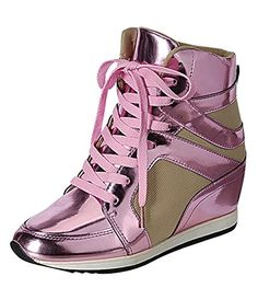 Reneeze KELLY-02 Womens Hidden Wedge Fashion Sneaker - PINK, Size 8.5 Reneeze http://www.amazon.com/dp/B00L2QYKPW/ref=cm_sw_r_pi_dp_mhCdub0TQA3YH