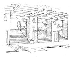 exterior perspective | pencil sketch