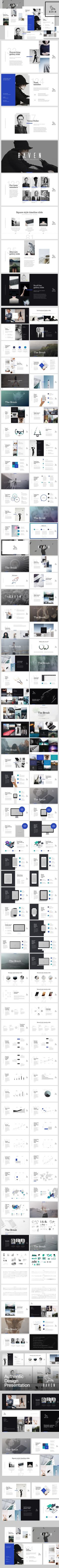 RAVEN Keynote Presentation Template. Business Infographic