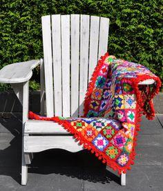 Crochet granny squares baby blanket