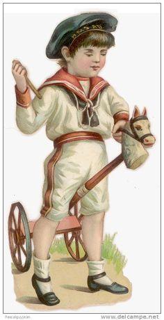 Old Paper > Chromos & Images > Victorian die-cuts > 1900-1929 > Children - Delcampe.net