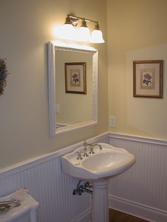 Stand alone sink & lovely mirror - Plan 071D-0208 | houseplansandmore.com