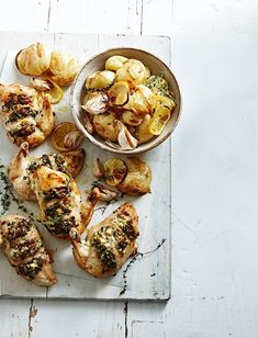 Hasselback Chicken with Crispy Lemon & Thyme Potatoes | MiNDFOOD