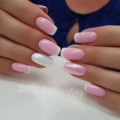 Pretty French Manicure Ideas - Trending NowFrench tip nails are classic styles that have stood the test of time. The core plan of the French manicure is painting the tip of the nail in an exceedingly color that either enhances or contrasts with t Manicure Nail Designs, French Manicure Nails, French Tip Nails, Manicure E Pedicure, Nail Art Designs, Nails Design, Hot Nails, Pink Nails, Hair And Nails