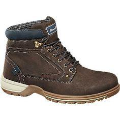 #Landrover #Boots #braun für #Herren weich gepolstertes Textil Farbe blau  braun Laufsohle