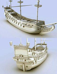 Ship Model Craft /1000craft Ideas Model Sailing Ships, Old Sailing Ships, Model Ships, Model Ship Building, Boat Building, Golden Hind, Ship Craft, Black Pearl Ship, Ship Paintings
