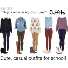 Cute,casual outfits for school:|: