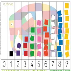 Aprender a contar con Elmer, learning numbers with Elmer, Elmer the elephant…