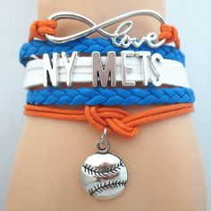 Infinity Love New York Mets Baseball - Show off your teams colors! Cutest Love New York Mets Bracelet on the Planet! Don't miss our Special Sales Event. Many teams available. www.DilyDalee.co