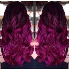 40 Ideas hair ombre magenta beautiful for 2019 Beautiful Hair Color, Cool Hair Color, Pelo Color Violin, Bright Hair Colors, Natural Hair Styles, Long Hair Styles, Hair Today, Purple Hair, Dyed Hair
