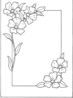 Hand Embroidery and Its Types - Embroidery Patterns Page Borders Design, Border Design, Flower Patterns, Flower Designs, Flower Borders, Embroidery Patterns, Hand Embroidery, Peyote Patterns, Drawing Borders