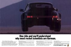 Old flying Porsche ad.