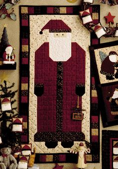This website has free quilt patterns, quilt block patterns and tutorials. I love this Santa Not a fan of Christmas decorations but this guy is charming. Wonder how long he takes to make.