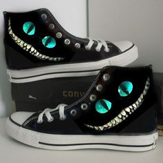 4847f802b62 Puss in Boots Custom Cheshire cat hand painted shoes gift canvas shoes girls  boys shoes women men shoes converse