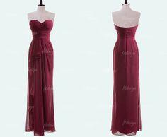 burgundy bridesmaid dress long bridesmaid dress cheap by fitdesign, $119.00