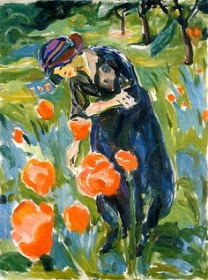 Edvard Munch - Woman with Poppies 1919