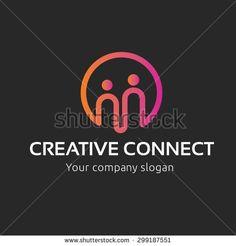Creative Connect, People logo,family logo,insurance logo,community logo,social logo,vector logo template
