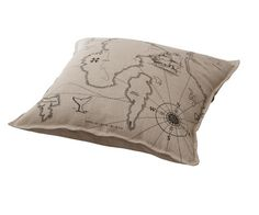 ikea-pillow-map - Really nice for my bed - I want a nice mix of natural tones and blue pillows.