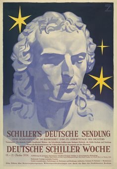 Ludwig Hohlwein, poster for Schiller exhibition