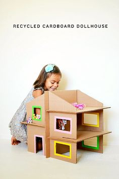 DIY doll house made from cardboard boxes #toys