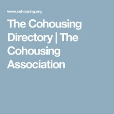 The Cohousing Directory | The Cohousing Association