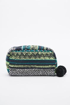 Deena & Ozzy Neon Mix Tapestry Cosmetic Case in Green