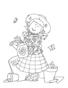 Free Dearie Dolls Digi Stamps: Garden Girl