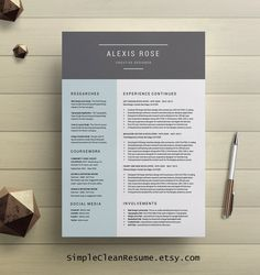 cv template professional resume template by simplecleanresume