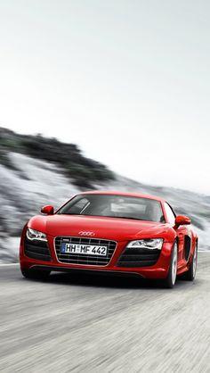 red, audi r8 v10, Cars