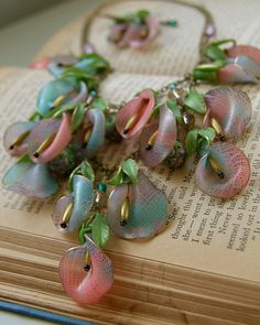 N trnsp crackle two tone petels |Translucent polymer clay by Gilded Daydreams.