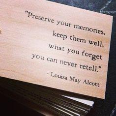 memory keeping!