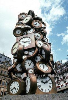Clock Sculpture at Gare du Nord, Paris